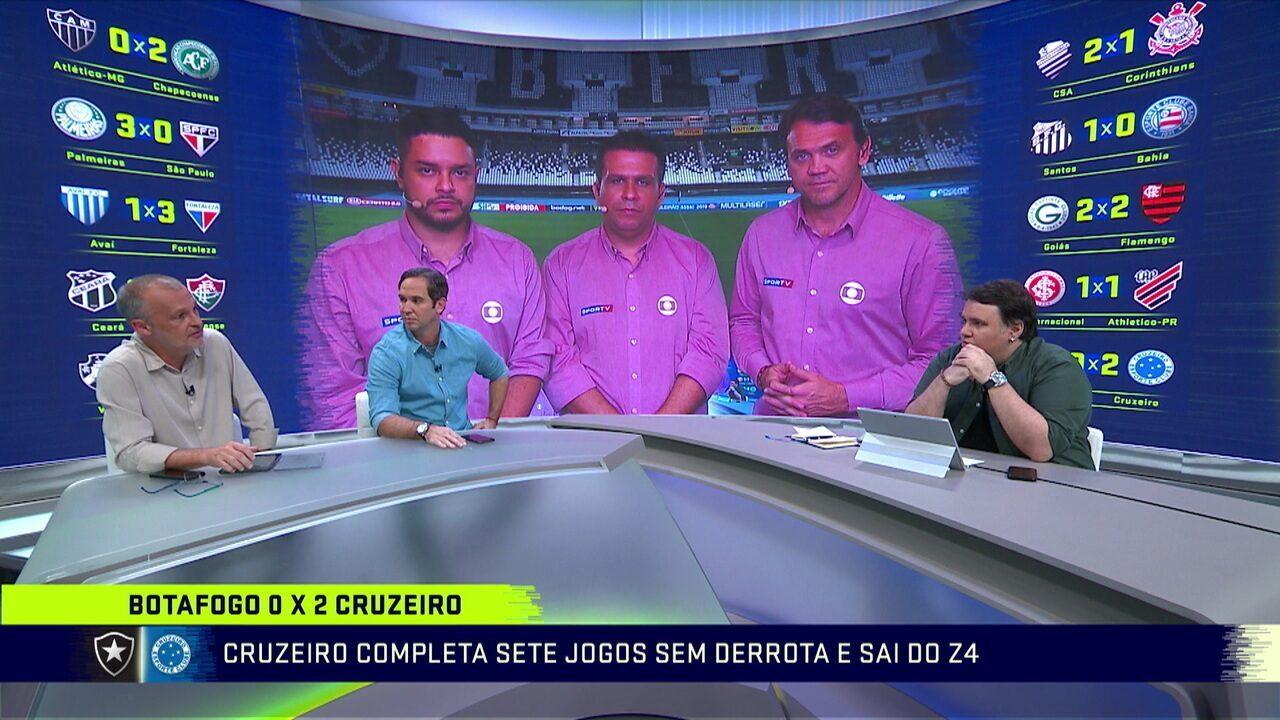 Comentaristas avaliam vitória do Cruzeiro sobre o Botafogo
