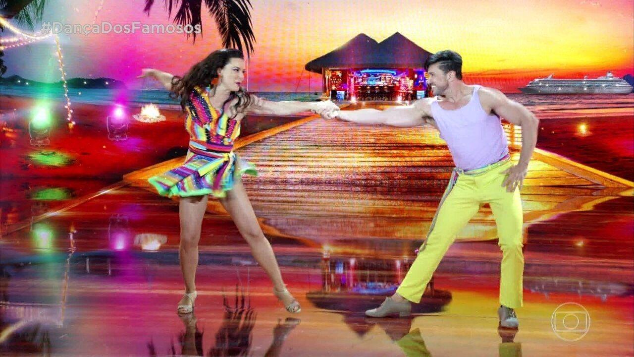 Regiane Alves arrasa na lambada no 'Dança dos Famosos'