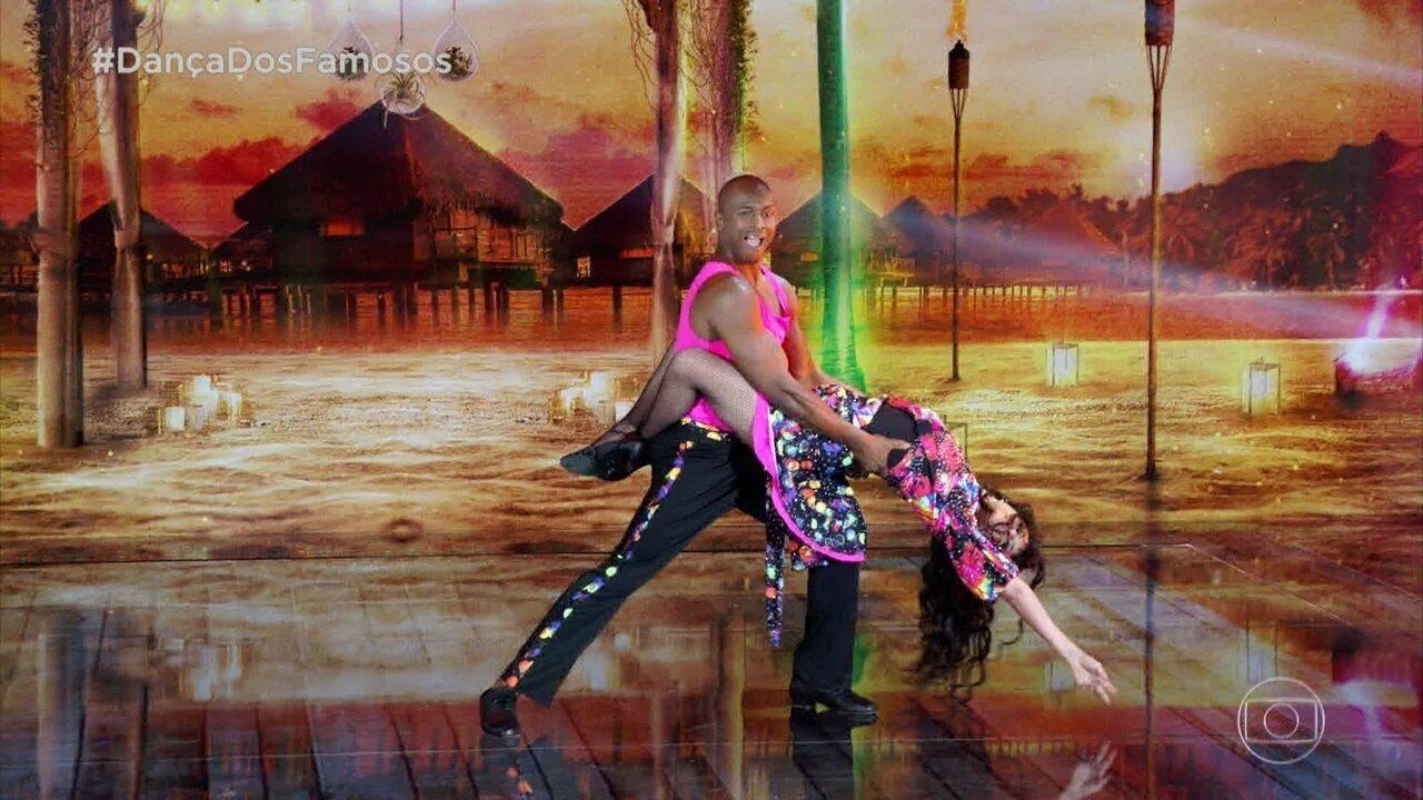 Fernanda Abreu dá show com lambada na 'Dança dos Famosos'