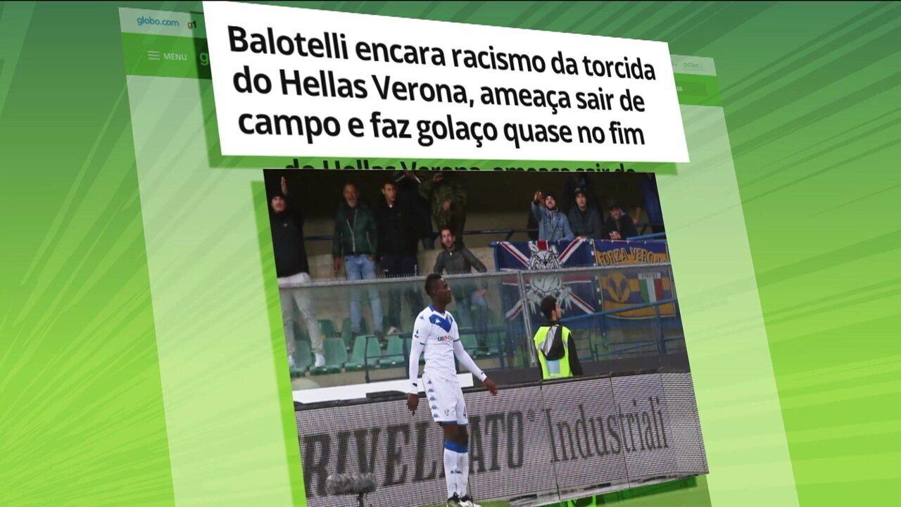 Balotelli é alvo de atos racistas no campeonato italiano