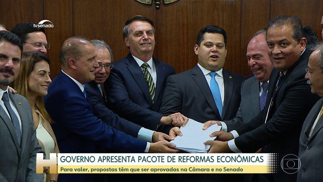 Bolsonaro entrega ao Congresso pacote de medidas na área econômica