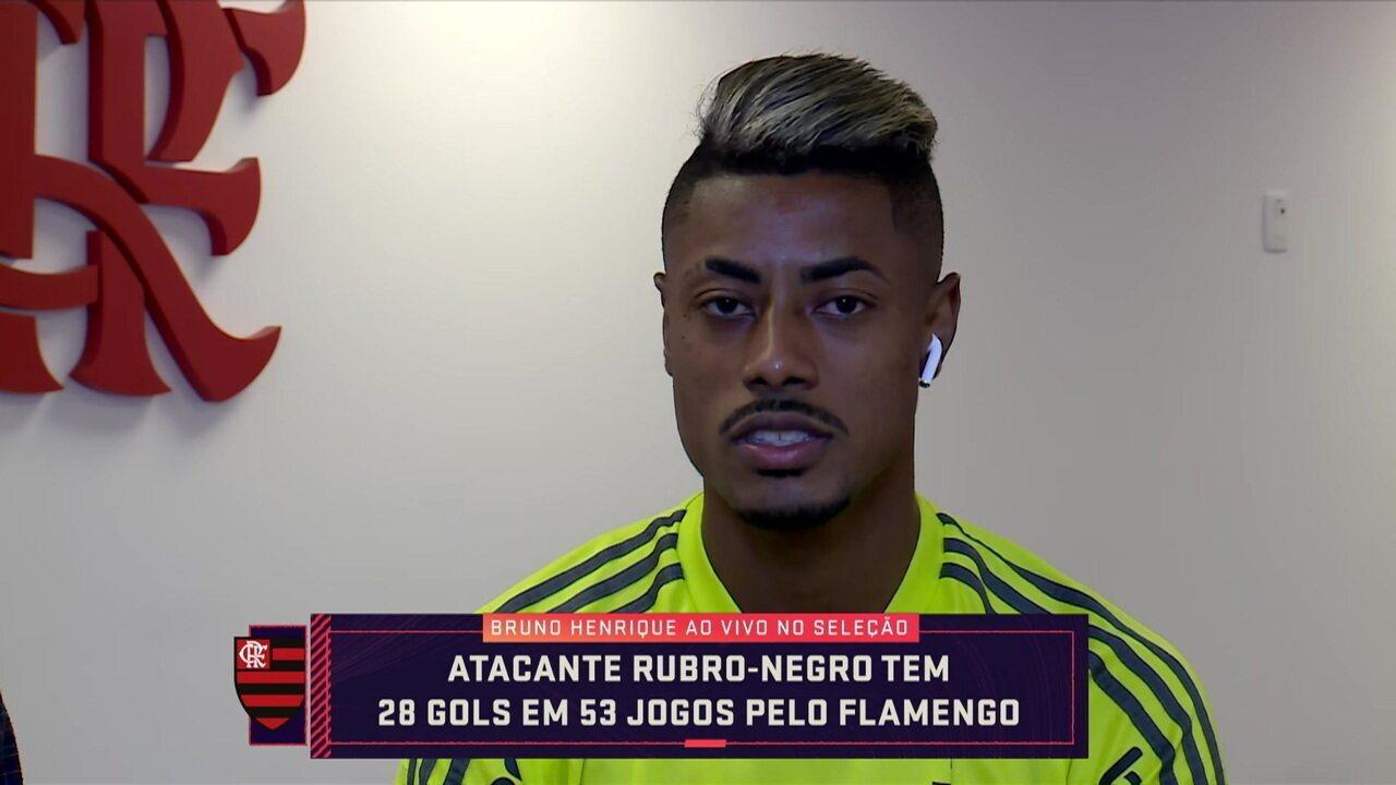 Bruno Henrique fala de entrosamento no Flamengo e ansiedade por decisão sobre final da Libertadores