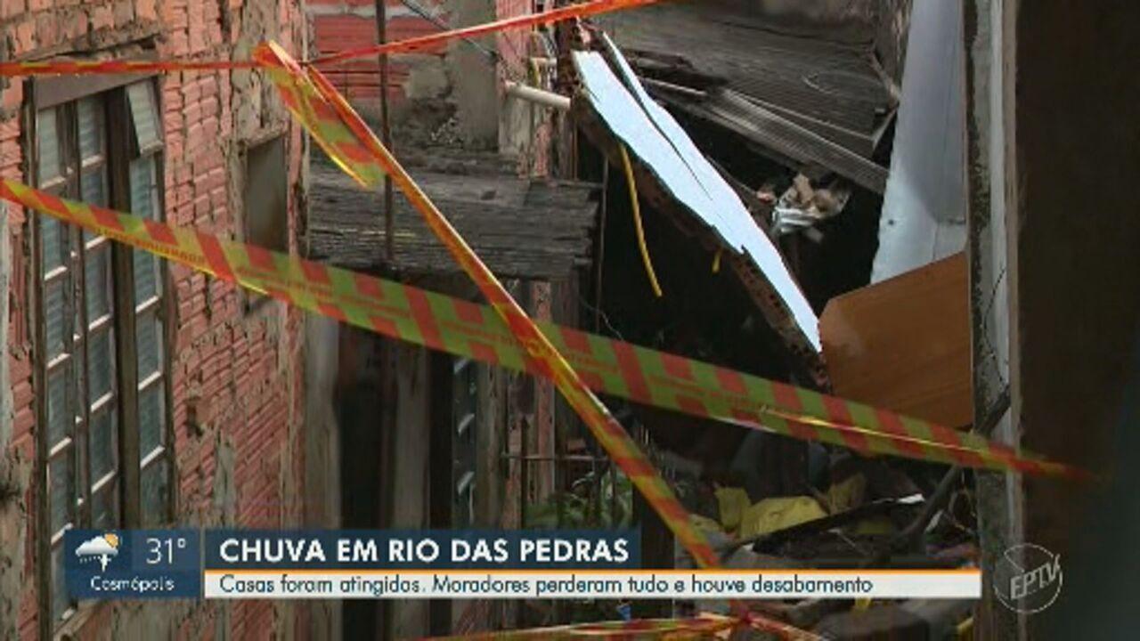 Chuva causa estragos à população de Rio das Pedras