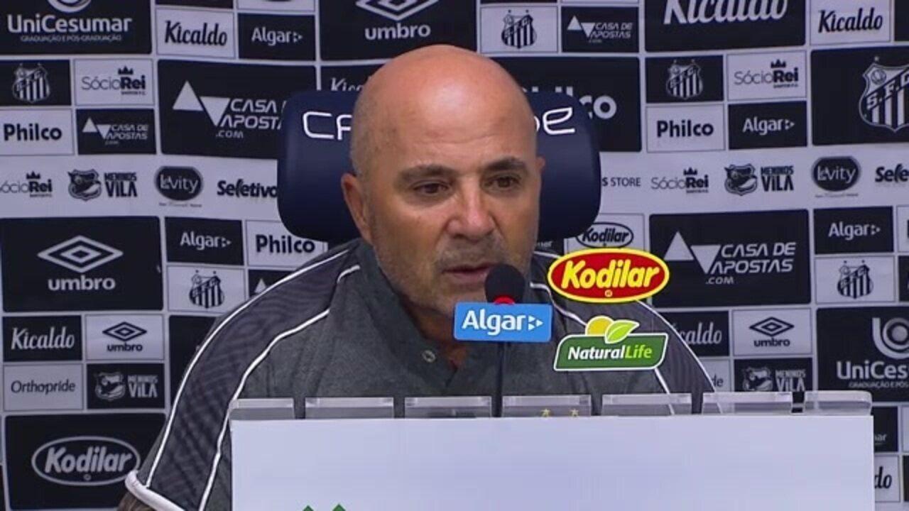 Veja como foi a entrevista de Jorge Sampaoli, técnico do Santos, após vitória sobre o Avaí