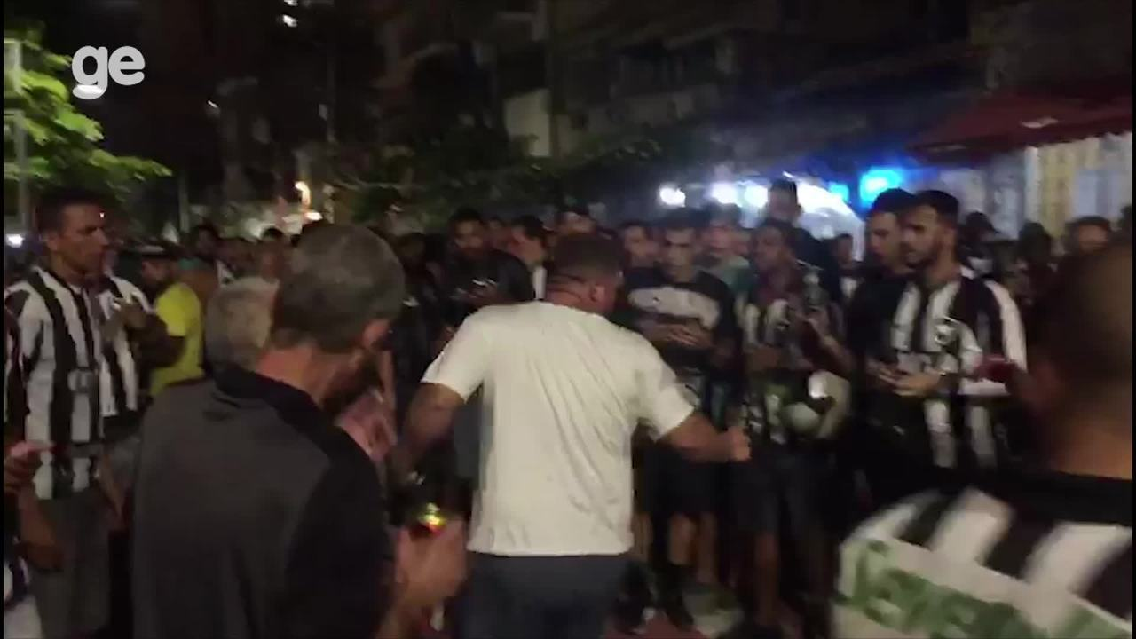 Confusão antes do clássico entre Botafogo e Flamengo