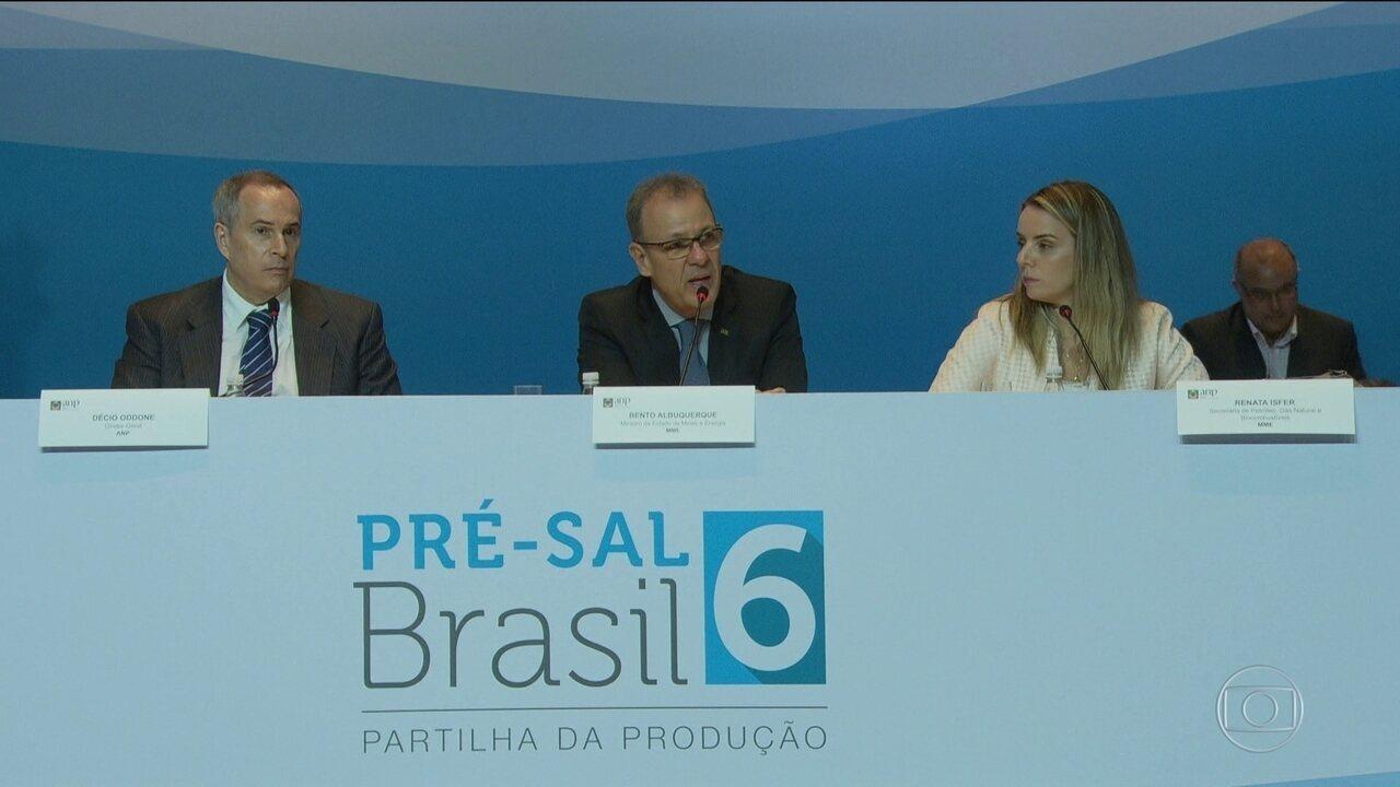 Leilão do pré-sal arrecada R$ 5 bilhões, mas fica sem lance para outras 4 áreas