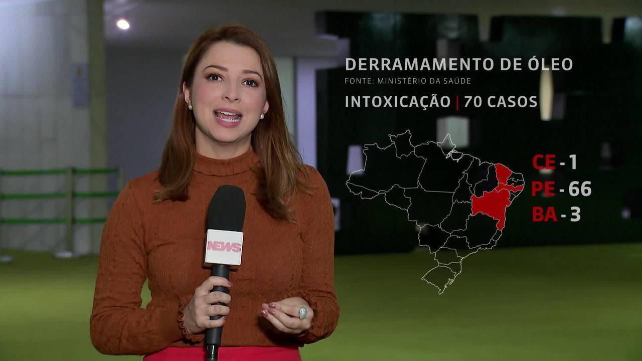 Óleo no Nordeste: Ministério da Saúde registra 70 casos de intoxicação