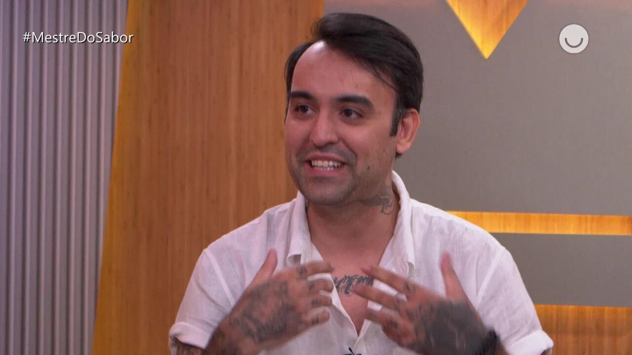 Diego comenta sobre eliminação e recebe elogio de Leo Paixão