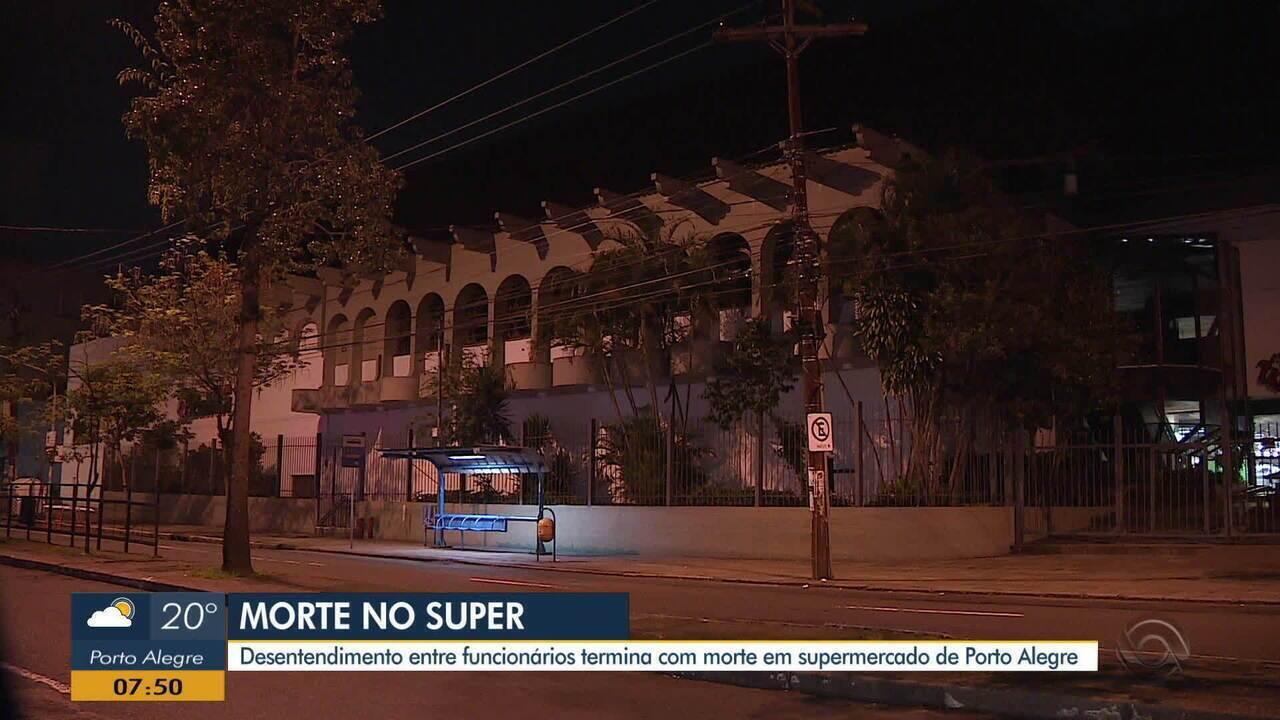 Desentendimento entre funcionários acaba com morte em supermercado em Porto Alegre