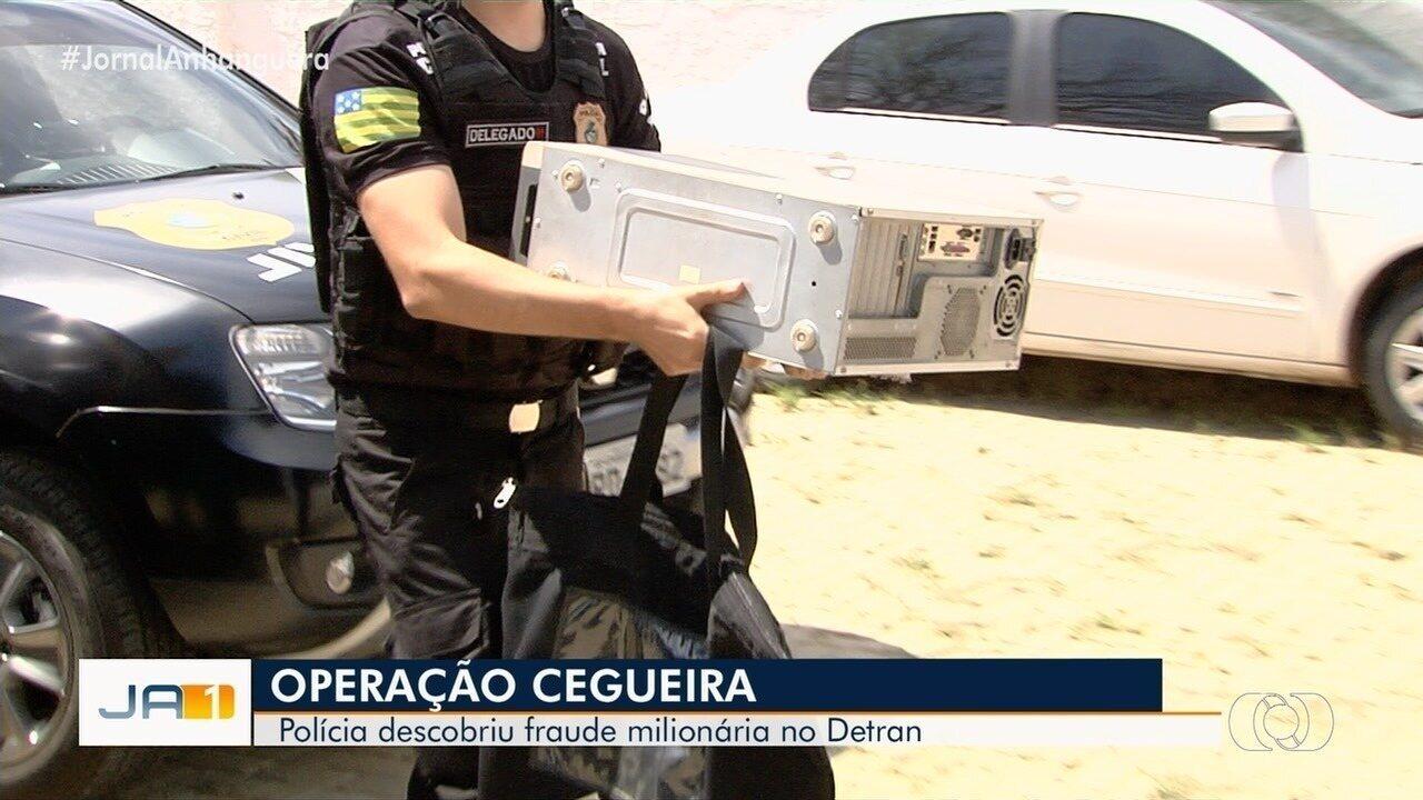 Operação 'Cegueira' investiga fraudes no Detran de Goiás