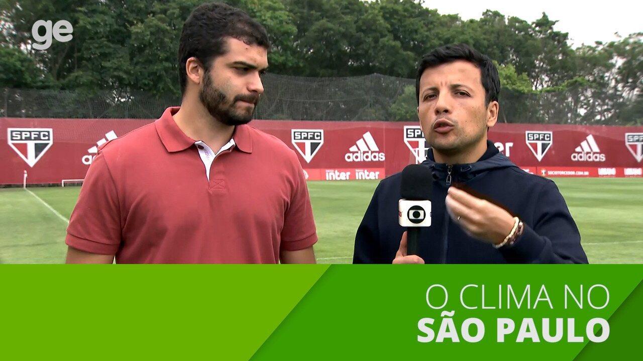 O clima no São Paulo após a derrota para o Fluminense
