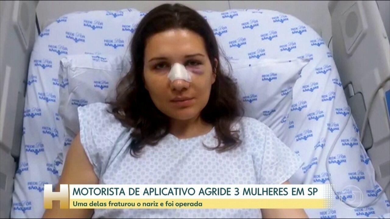 Três passageiras são agredidas por motorista de aplicativo, em São Paulo