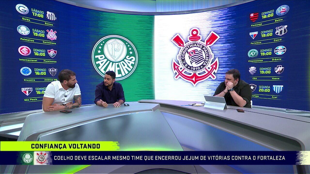 Comentaristas debatem sobre o clássico do final de semana entre Palmeiras e Corinthians