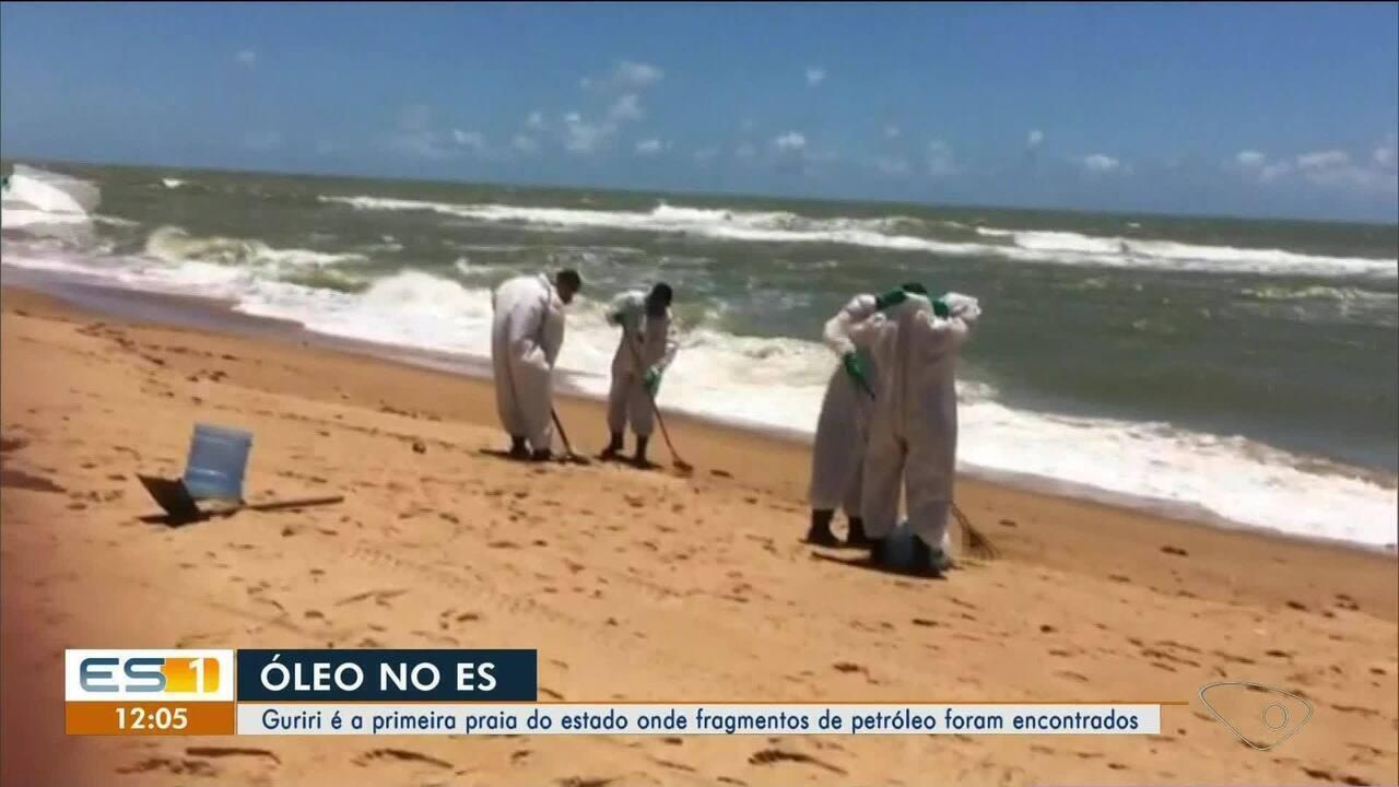 Guriri é a primeira praia do ES onde fragmentos de óleo foram encontrados