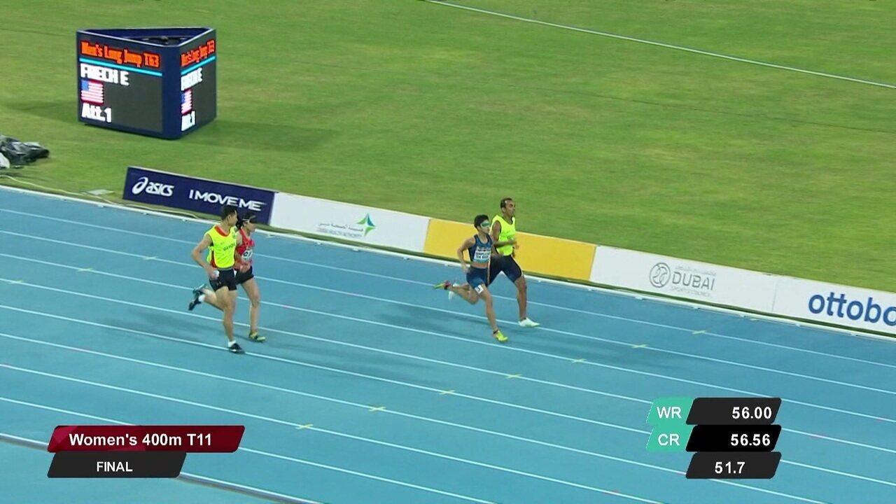 Thalita Simplicio vence os 400m T11 e se sagra campeã mundial.