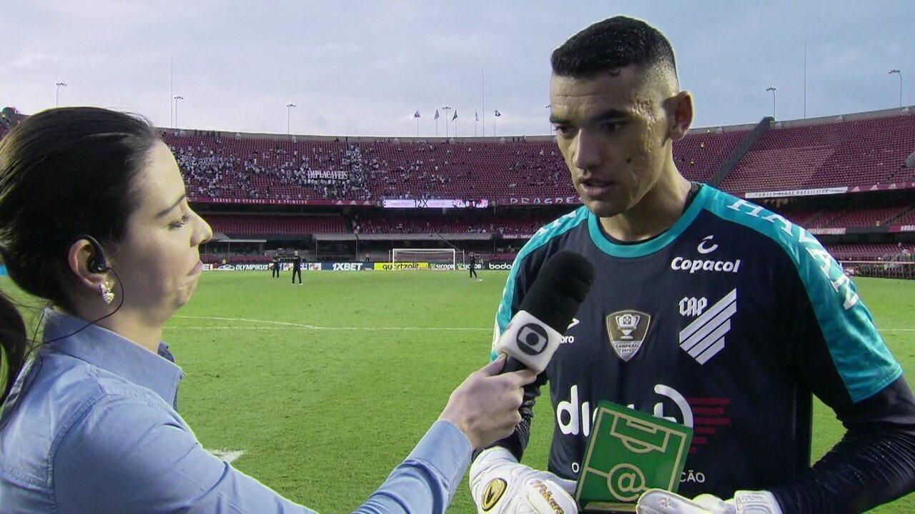 Eleito craque do jogo, Santos comemora boa atuação contra o São Paulo e convocação