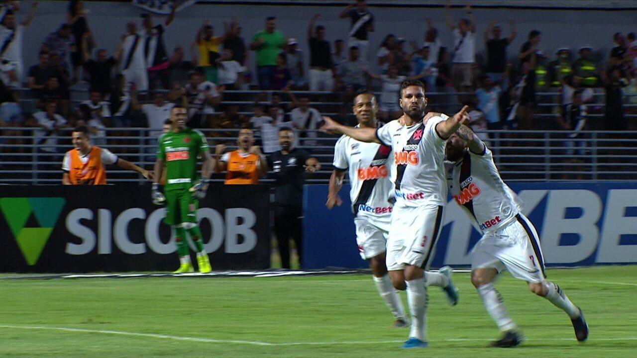 Os gols de CSA 0 x 3 Vasco pela 32ª rodada do Campeonato Brasileiro