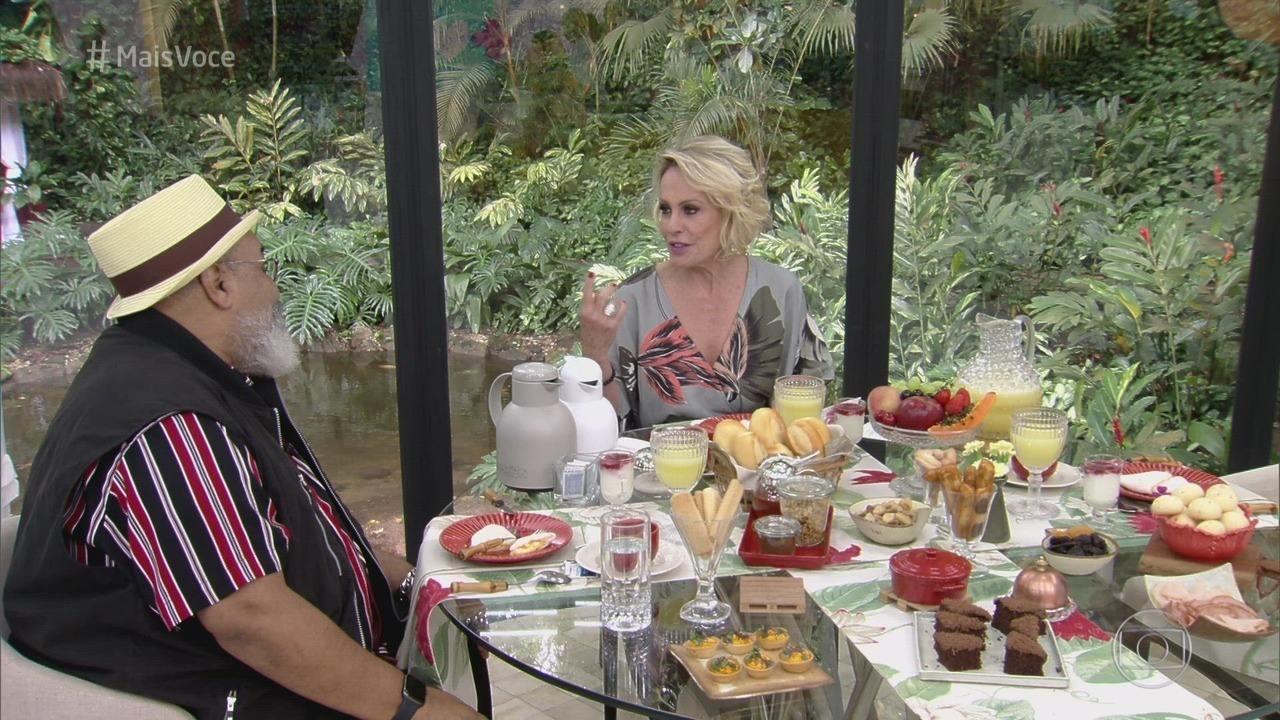 Programa de 13/11/2019 - Ana Maria Braga recebe o cantor Jorge Aragão para o café da manhã