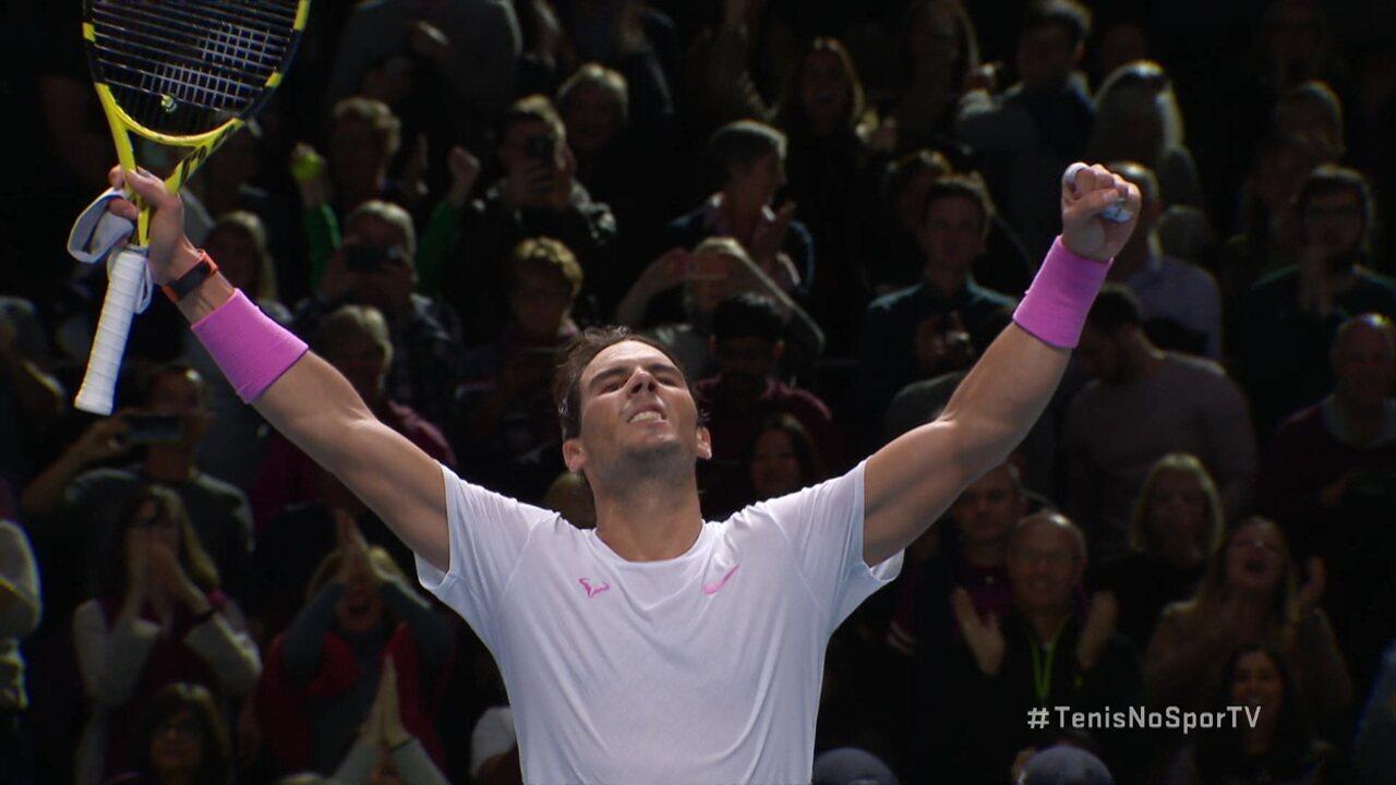 Pontos finais de Rafael Nadal 2 x 1 Daniil Medvedev pelo ATP Finals