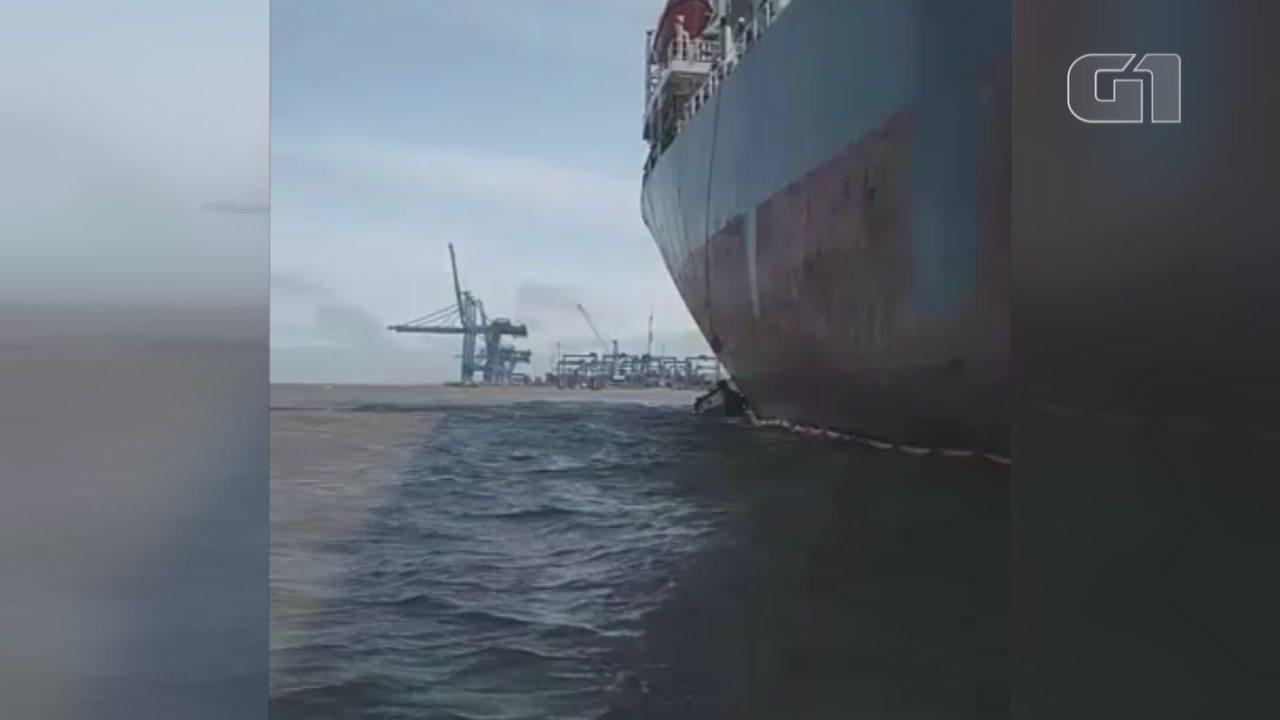 Patram investiga vazamento de óleo de navio no porto de Rio Grande