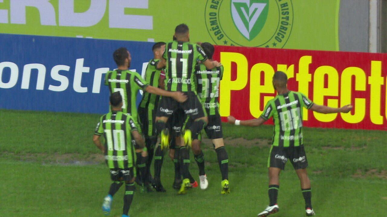 Gols de América-MG 2 x 1 Vitória pela 36ª rodada do Campeonato Brasileiro Série B