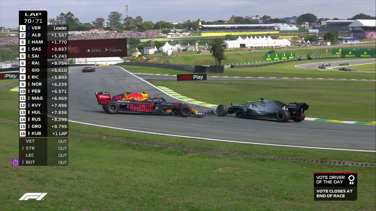 Lewis Hamilton bate em Albon e Gasly pula para segundo