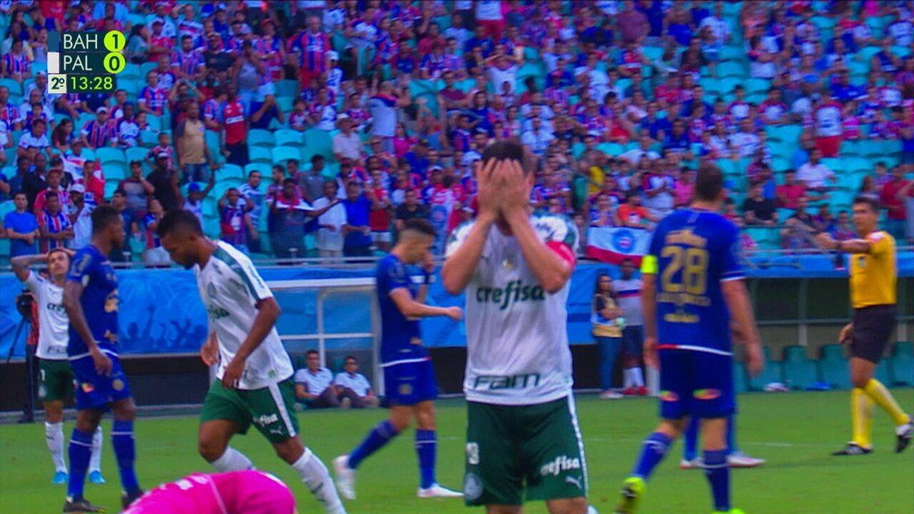 Melhores momentos de Bahia 1 x 1 Palmeiras pela 33º rodada do Brasileirão