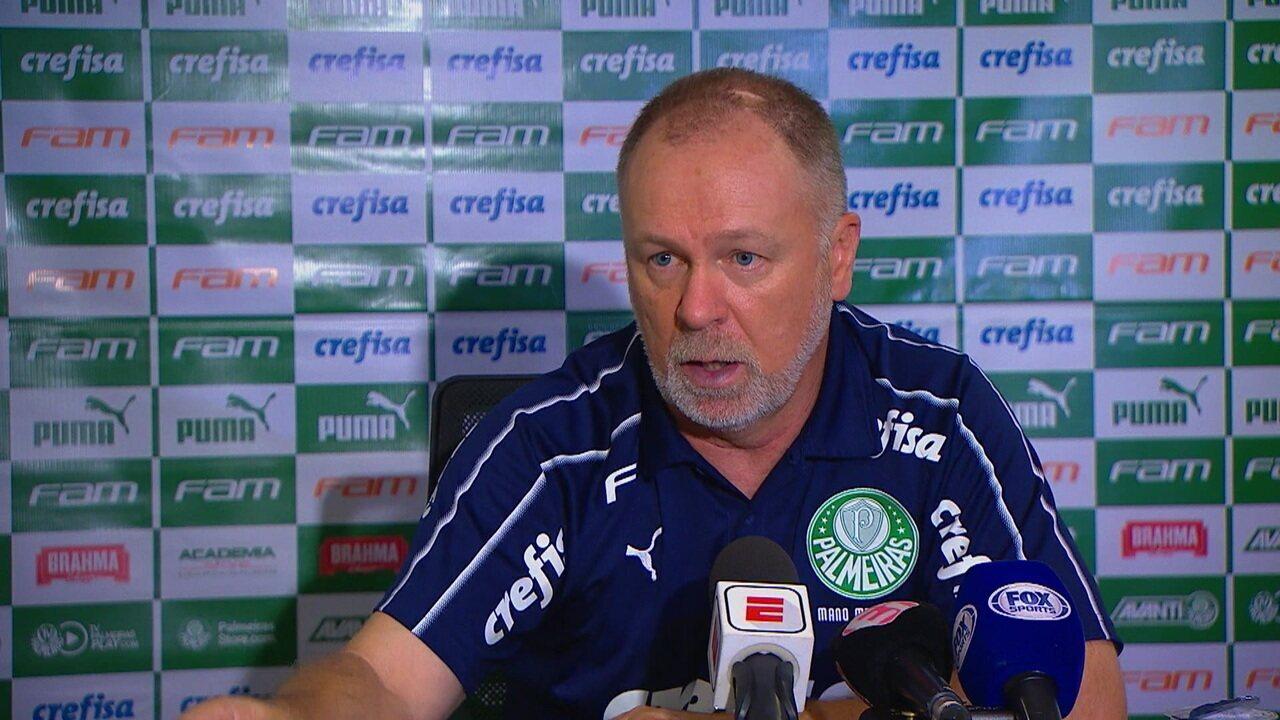 Mano Menezes fala sobre empate do Palmeiras contra o Bahia na Fonte Nova