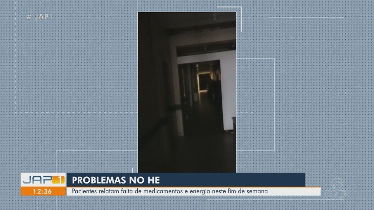 Pacientes relatam falta de medicamentos e energia no Hospital de Emergências de Macapá