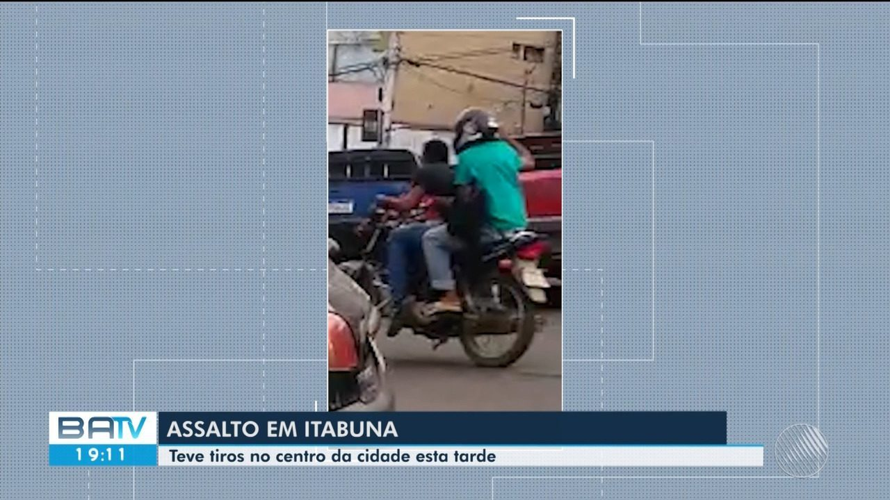 Vídeo mostra correria e disparos de arma de fogo durante assalto no centro de Itabuna