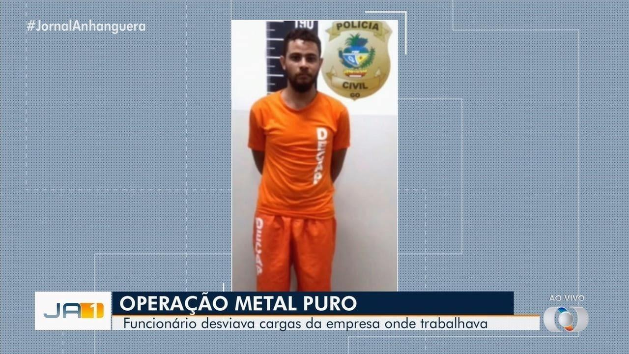 Preso homem suspeito de desviar cargas de aço da empresa em que trabalhava, em Goiânia