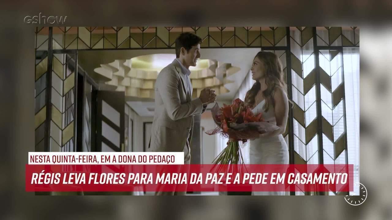 Resumo do dia - 21/11 – Régis leva flores para Maria da Paz e a pede em casamento