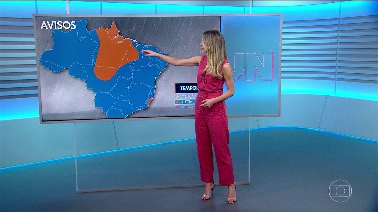 Previsão de temporais para esta quinta-feira, dia 21, em várias regiões do país