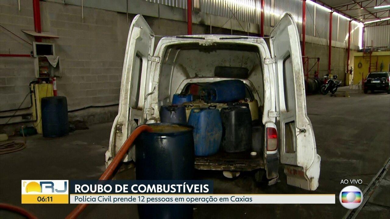 Doze pessoas são presas em operação contra roubo de combustíveis em Duque de Caxias