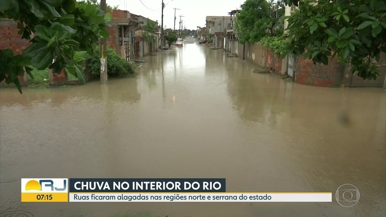 Chuva atinge interior do estado do Rio