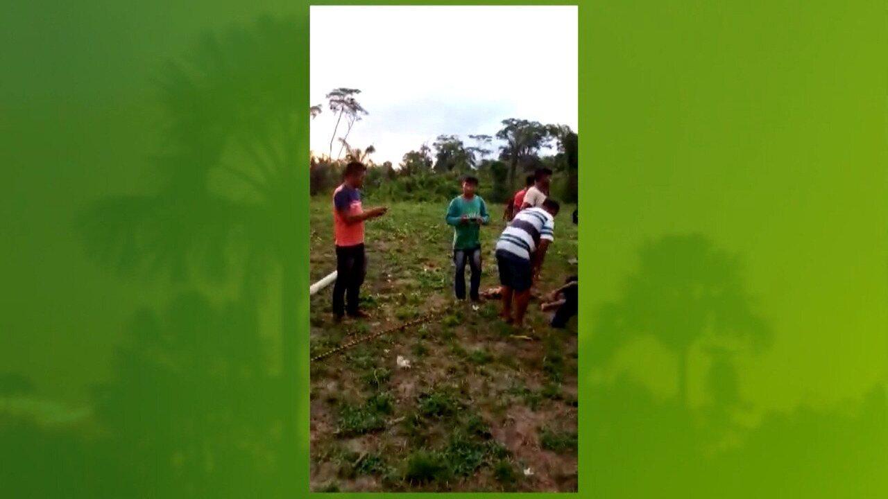 Escola de indígenas da tribo Ka'apor desaba em Alto do Turiaçu