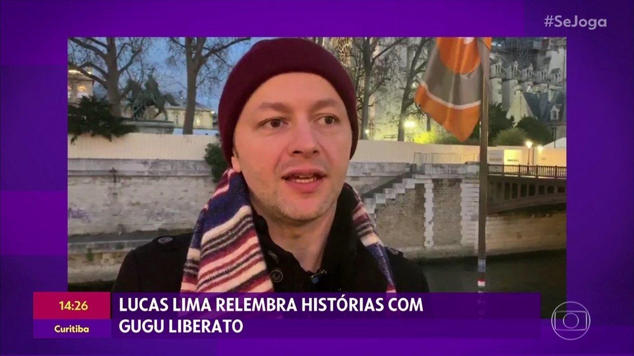 Lucas Lima relembra histórias com Gugu Liberato