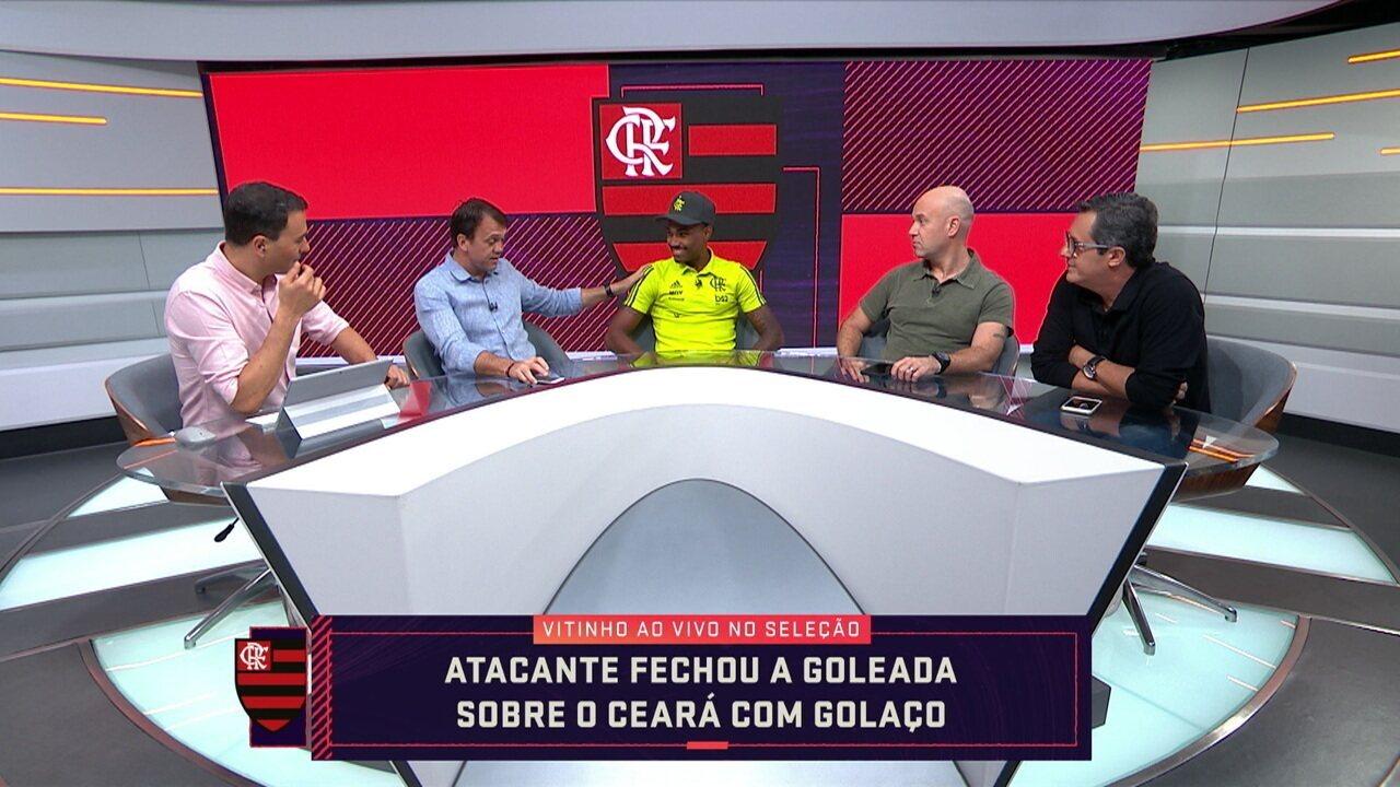 Após fechar goleada em cima do Ceará, Vitinho participa do Seleção