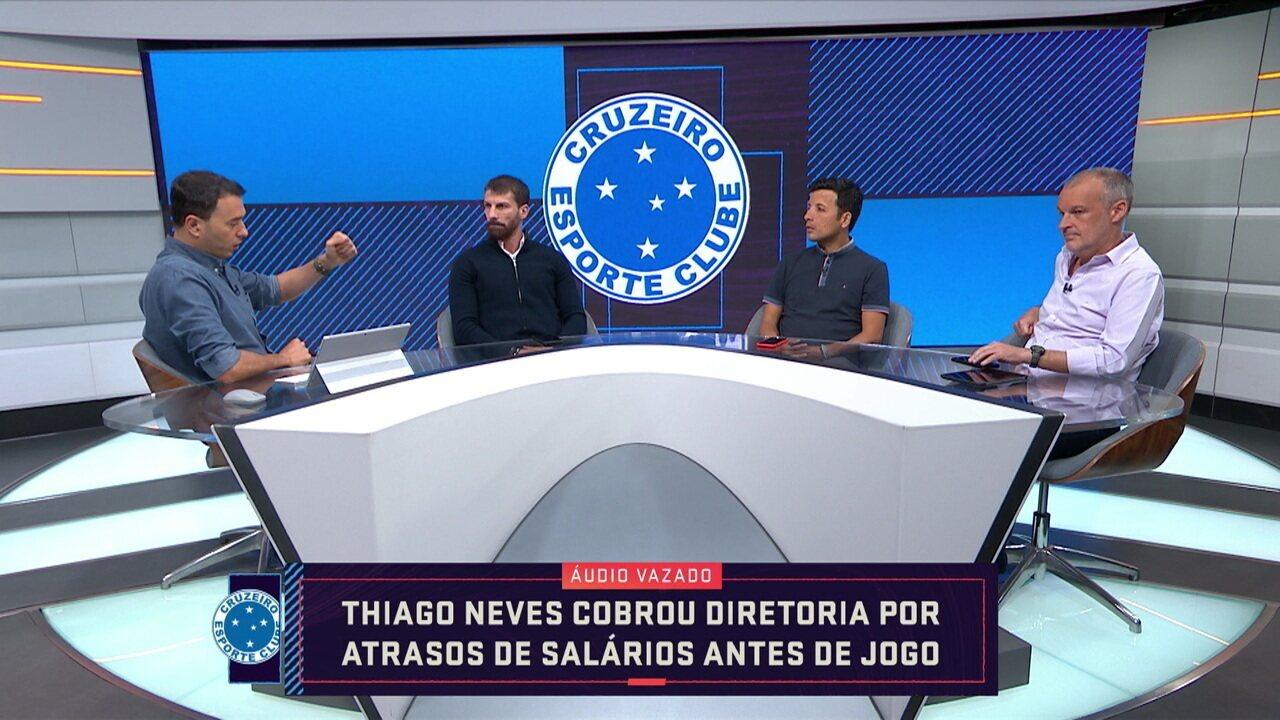 Comentaristas analisam áudio vazado de Thiago Neves após derrota do Cruzeiro para o CSA