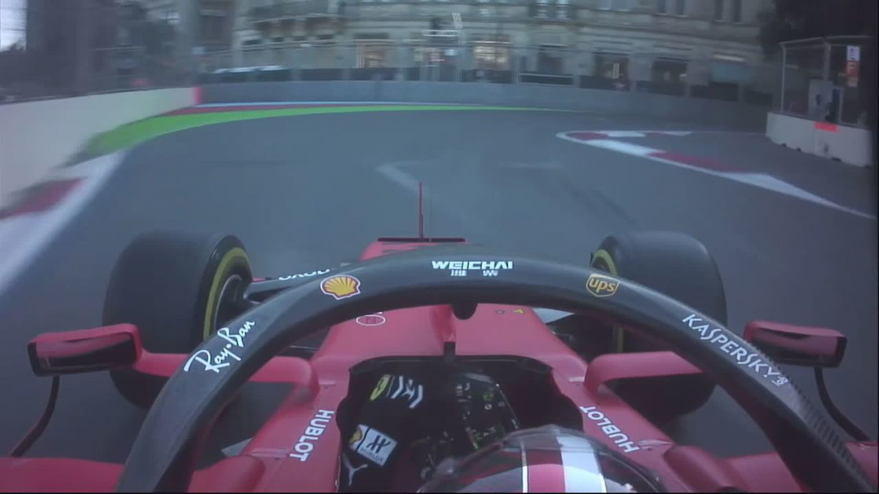 Charles Leclerc sofreu acidente na classificação no Azerbaijão