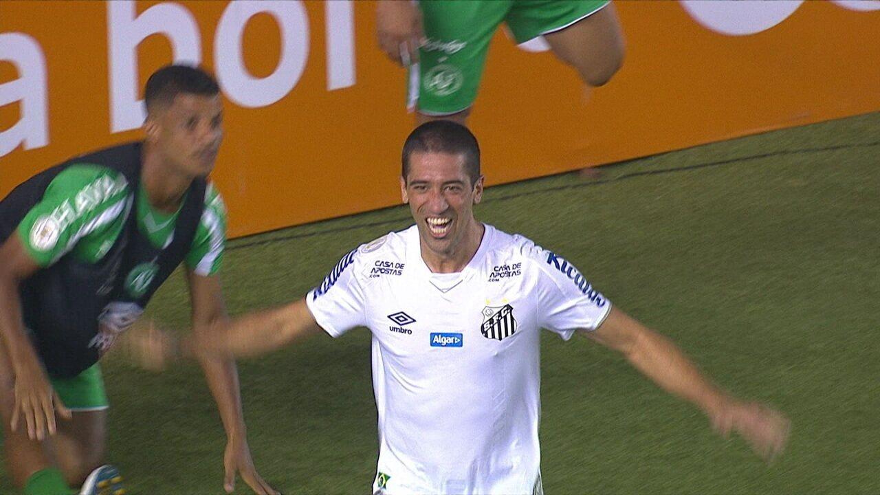Veja como foi o único gol de Evandro pelo Santos