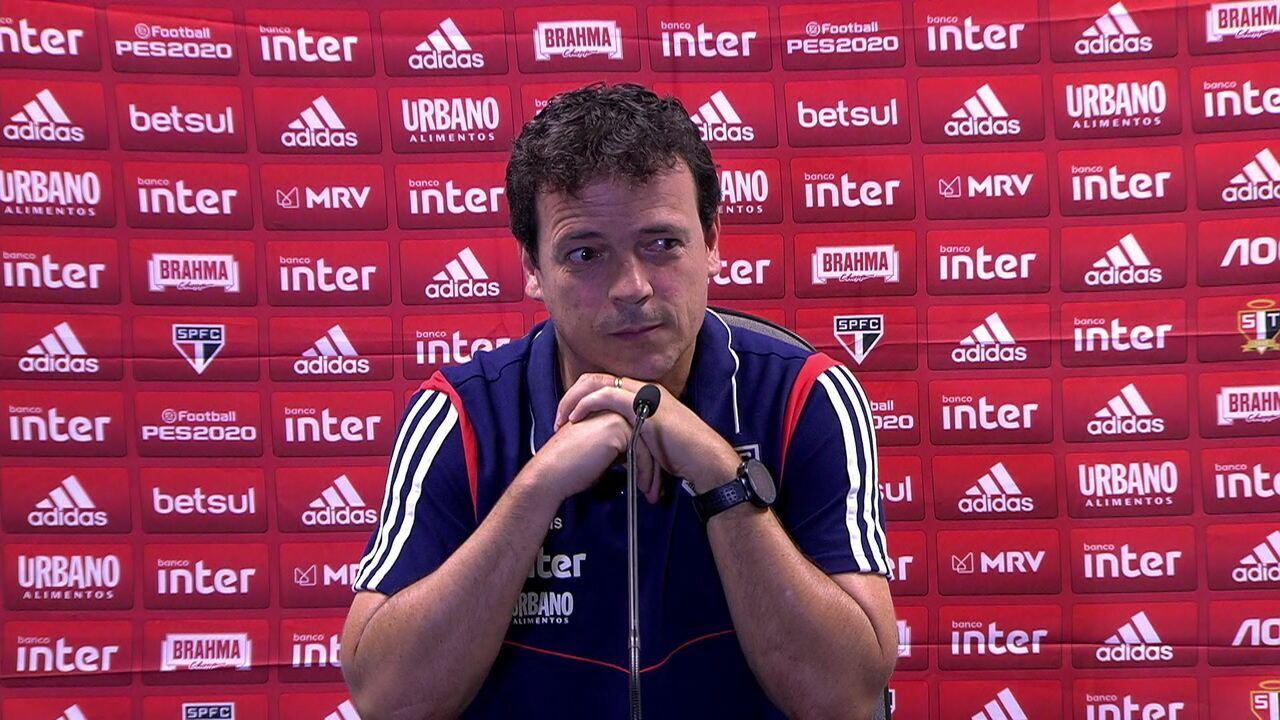 Veja a entrevista coletiva do técnico Fernando Diniz após a derrota do São Paulo para o Grêmio