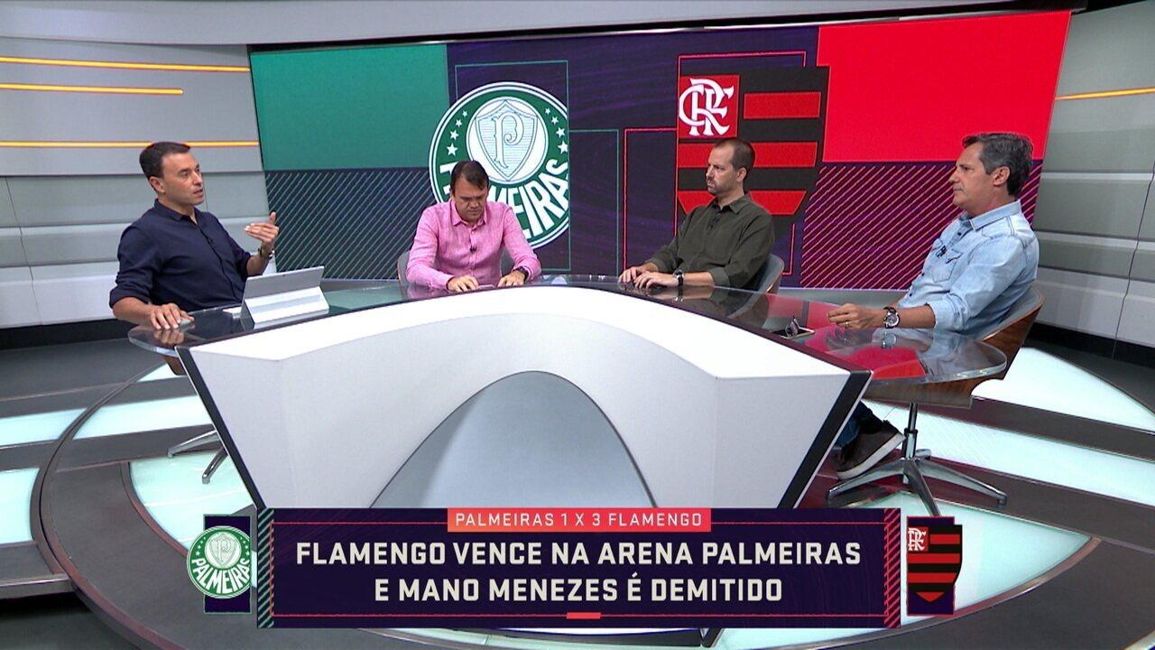 """Analistas falam sobre derrota do Palmeiras para o Flamengo: """" O Mano foi punido ontem"""""""