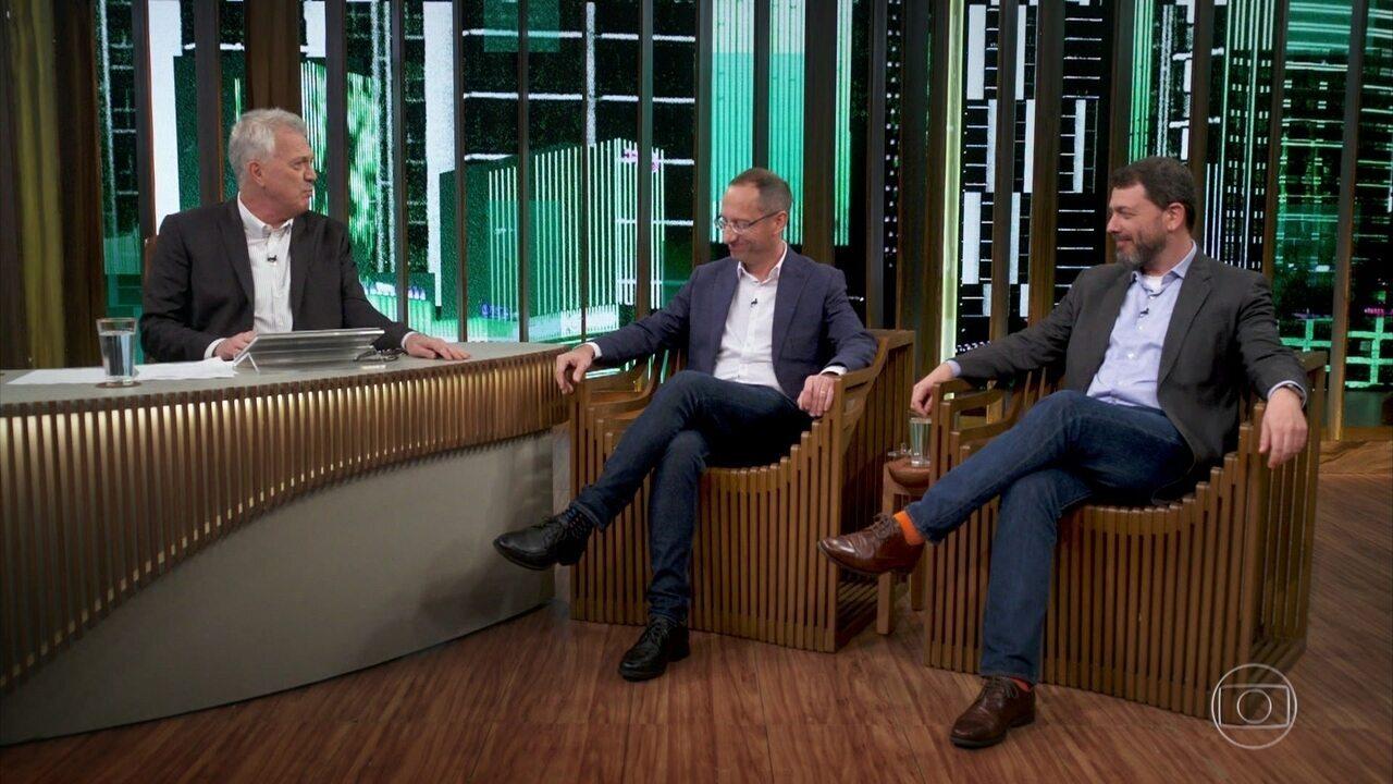 Bial recebe Pedro Dória e Stevens Rehen para debate sobre as ideias de Steven Pinker