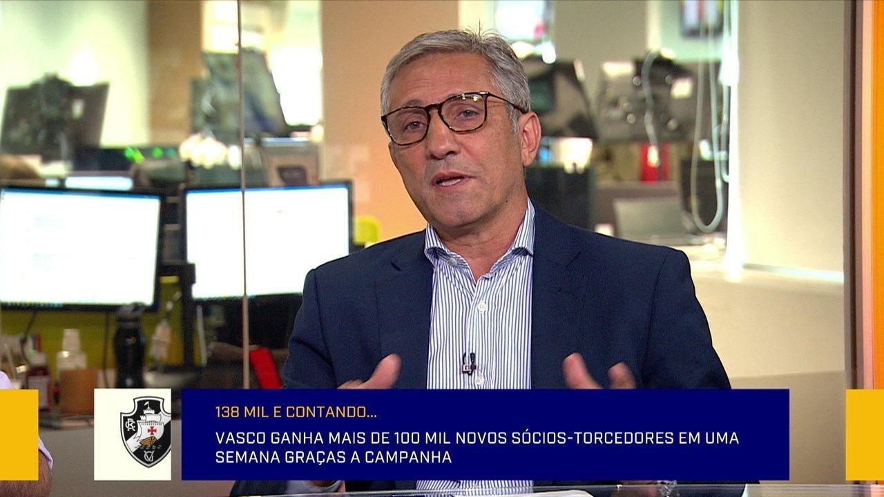 Alexandre Campello participa do Redação para falar sobre a campanha Sócio Torcedor do Vasco
