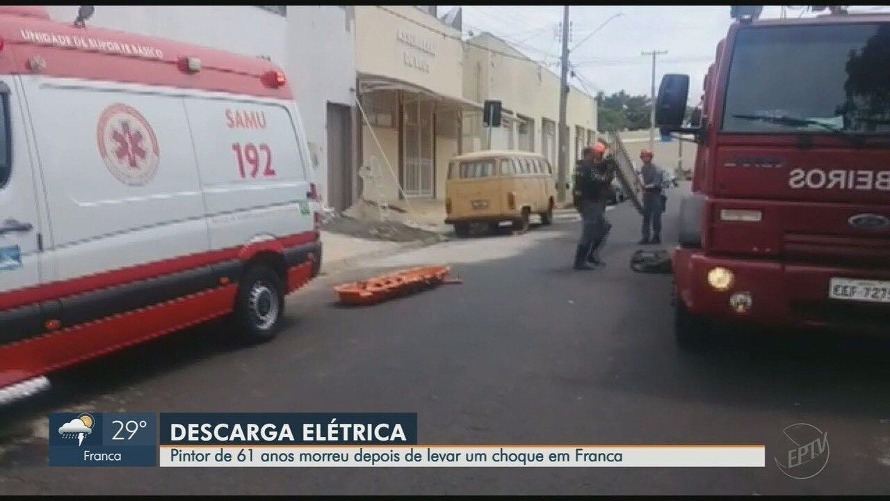 Pintor morre eletrocutado enquanto trabalhava em prédio de Franca, SP