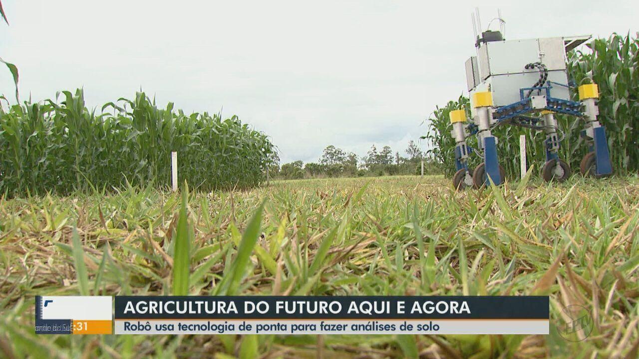 Pesquisadores da Embrapa e da USP de São Carlos desenvolvem robô que mapeia o solo