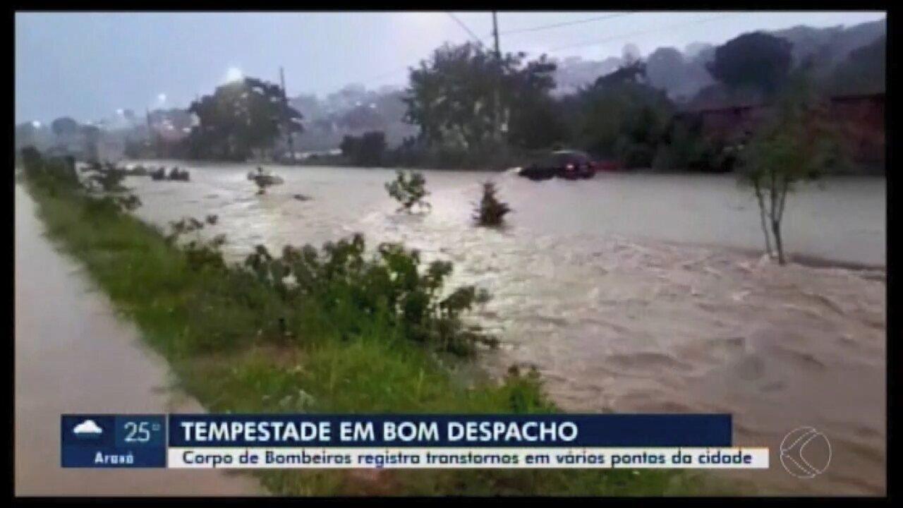 Chuva causa transtornos em Bom Despacho e Prefeitura anuncia reparos emergenciais