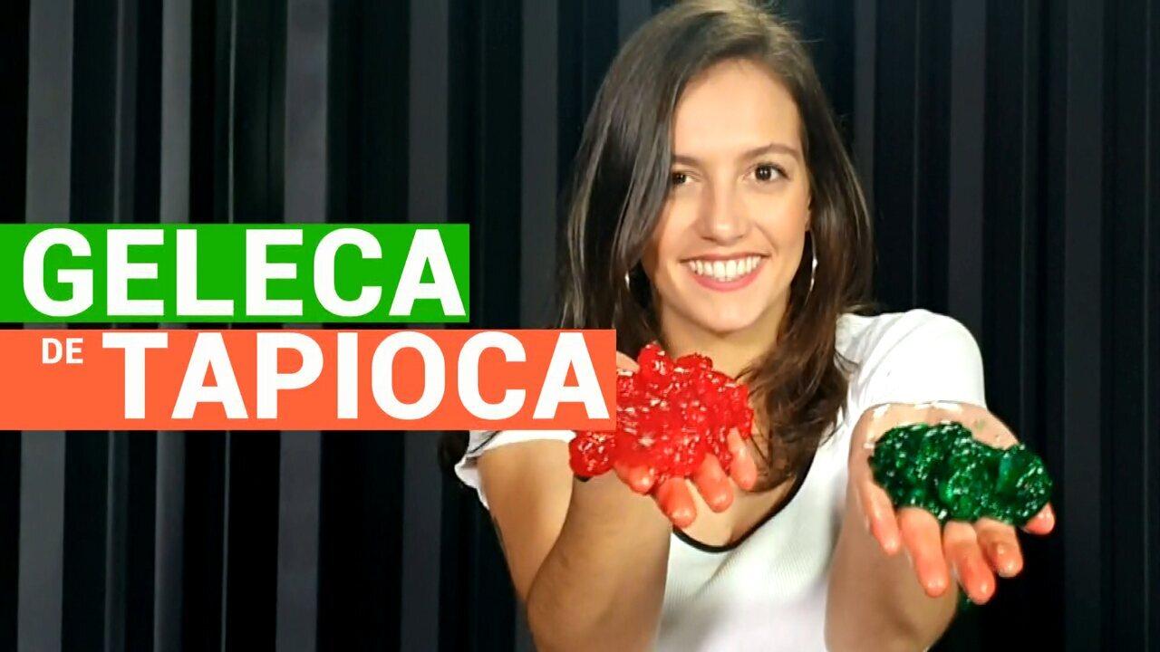 Aprenda a fazer slime com tapioca