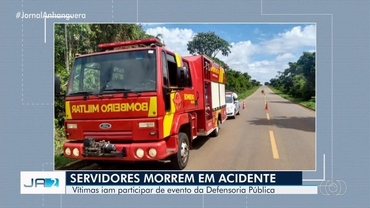 Servidores da Defensoria Pública de Goiás morrem em acidente de carro na GO-010